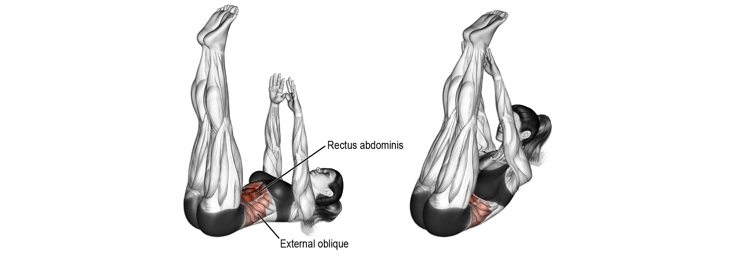 Wszelkiego rodzaju spięcia korpusa to dobrze ćwiczenia na mięśnie brzucha