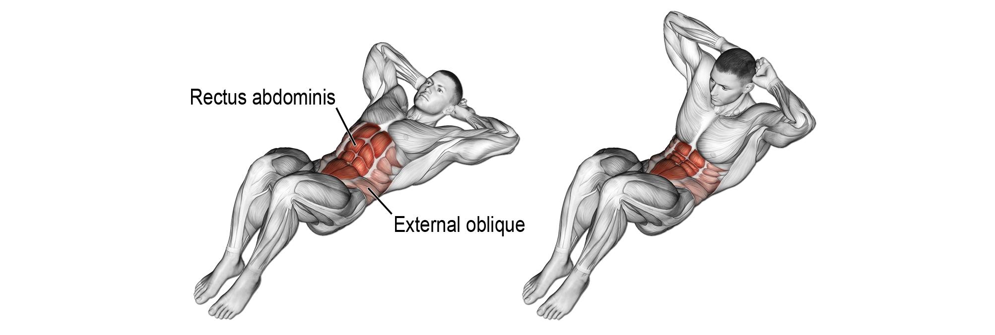 spięcia brzucha leżąc - najlepszy trening na 6 pak