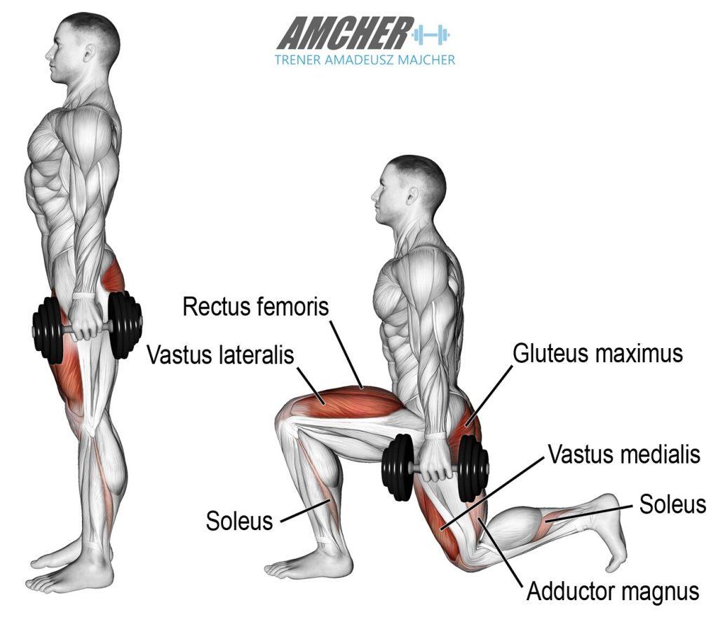 prezentacja prawidłowej techniki wykorku - ćwiczenie na mięśnie nóg