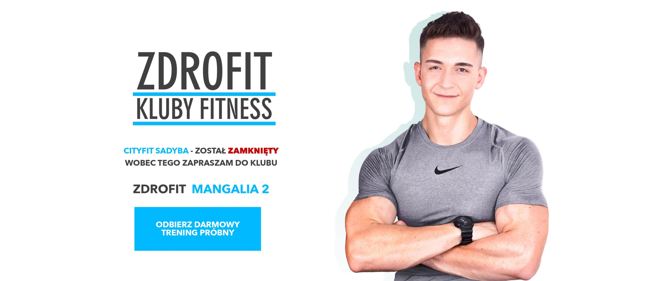 siłownia Cityfit Sadyba została zamknięta - zapraszam na próbny trening personalny w Zdrofit Mangalia 2 Stegny